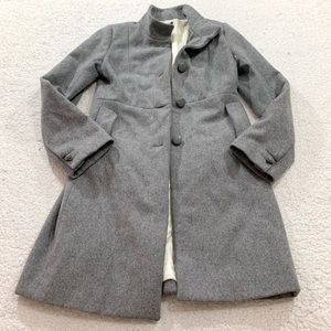 J crew long wool pea coat jacket size 2 xs